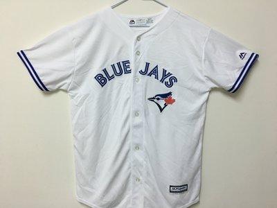 MLB 美國職棒大聯盟 多倫多藍鳥隊 白色 棒球衣 青年版 Majestic Toronto Blue Jays