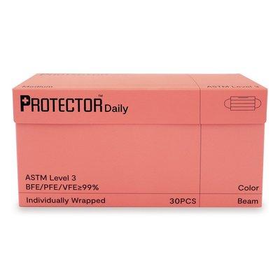 預購 香港 Protector 口罩 盒裝 30片 粉橘色 橙色 單片包裝 素色 氣質 比中衛舒適 賣場還有MaskOn