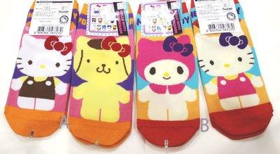 東京家族 hello kitty 布丁狗 美樂蒂 可愛帆船襪 短襪 襪子 AB兩款 現貨