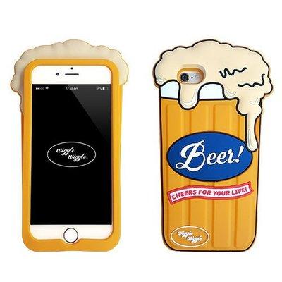 韓國 趣味啤酒杯 安全矽膠保護套 手機殼│iPhone 6/6S Plus│z7608