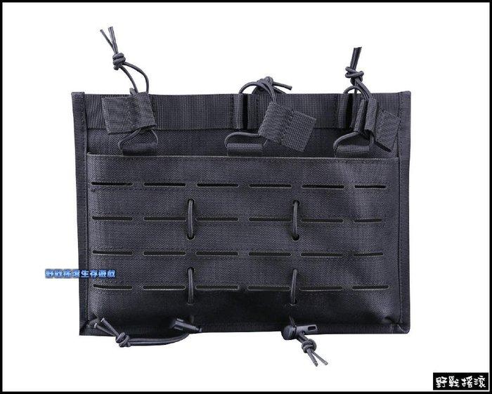 【野戰搖滾-生存遊戲】高品質多用途三聯彈匣袋【黑色】M4 AK 快拔彈匣包彈夾袋雷射切割