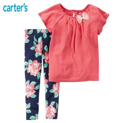 美國Carter's 蝴蝶節桃色上衣+大花內搭褲二件組套裝(現)zara gap h&M NEXT 1/2 POLO