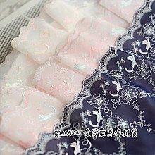 『ღIAsa 愛莎ღ手作雜貨』花邊輔料外單好品質貓星人雪紡刺繡蕾絲花邊寬19.5cm
