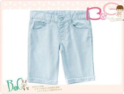 【B& G童裝】正品美國進口Crazy8淺藍色格紋布五分短褲5,6yrs