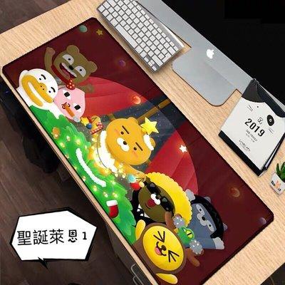 誘惑 ? 韓國 Kakao Friends 聖誕萊恩 ? 萊恩 屁桃 辦公桌墊 滑鼠墊 3款 現貨