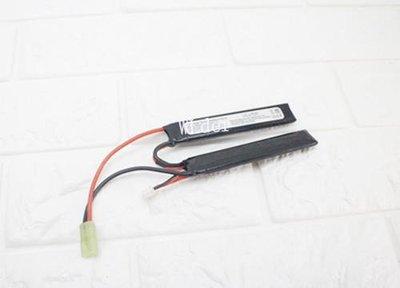 [01] 7.4V 鋰電池 兩片式( 鋰鐵充電電池EBB AEG 電動槍AR步槍M4 後托BB槍BB彈玩具槍長槍模型