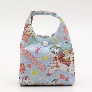 代購現貨  日本三麗鷗折疊環保袋小雙星粉紅/粉藍迷你包