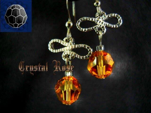 ※水晶玫瑰※ SWAROVSKI 8mm水晶珠 耳勾式針式耳環(DD335)~出清~三對免郵