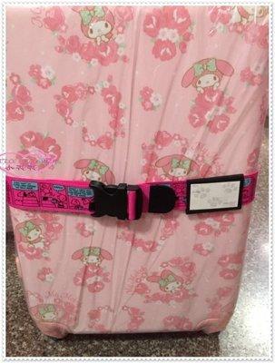 ♥小公主日本精品♥ Hello Kitty 史努比 行李箱束帶 旅行箱打包帶 旅行箱束帶 桃色查理41121702