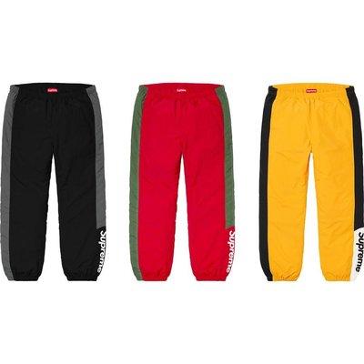 【紐約范特西】預購 SUPREME FW19 Side Logo Track Pant 運動褲