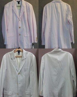Polo Ralph Lauren (1)  男/女裝粉红間條 / 男裝粉籃間條 西裝  每件 $1,250
