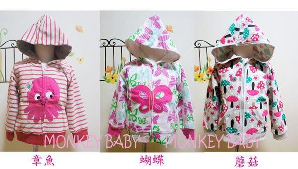 全館滿699免運【MONKEY BABY 】歐美外貿連帽外套/女童外套(9-36月)