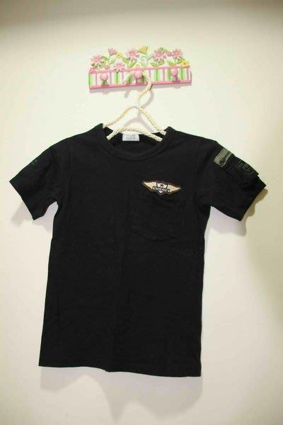 韓國黑色口袋棉T