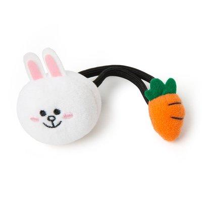【髮圈】 LINE FRIENDS 兔兔 紅蘿蔔 雙頭造型髮圈 髮帶 髮飾 髮箍 兔兔 熊美 莎莉 雷納德 愛德華