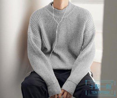 毛衣男 打底 生ins港風復古半高領潮流加厚款針織衫新品上 型男小鋪