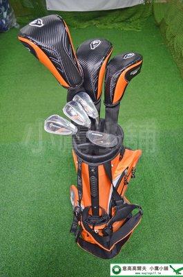 [小鷹小舖] Duma Bear Golf 台灣黑熊 高爾夫 兒童 套桿組 共7支 橘色 適合 身高137-160公分