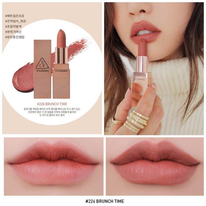 全現貨【韓Lin代購】韓國 3CE - 限量新品上市 LILY MATTE MAYMAC 玫瑰金唇膏