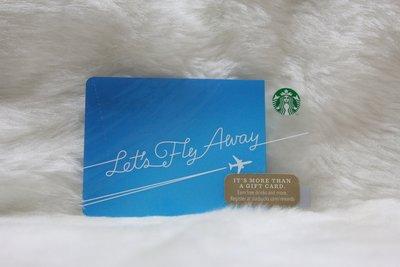 星巴克 STARBUCKS 美國 2014 6103 LET'S FLY AWAY 限量 隨行卡 儲值卡 卡片 收藏