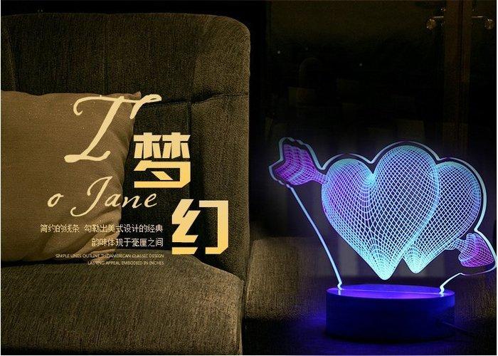 【Ray的雜貨鋪】3D卡通立體小夜燈LED裝飾檯燈耶誕節情人節禮品