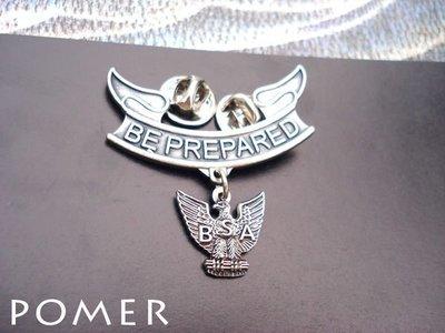 ☆POMER☆BSA 美國童子軍 鷹級童子軍 BE PREPARED 紀念獎章勳章 金屬別針胸針徽章