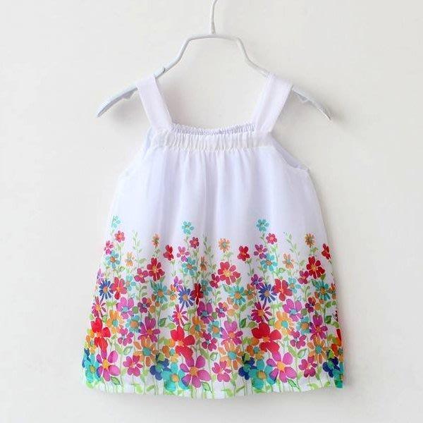 韓版《雪紡花朵款》吊帶背心 洋裝 (J3-2)