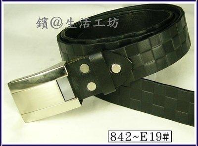 正義大利表層單層牛皮烙LV花高級皮帶◎保用十年◎鑌842-E19