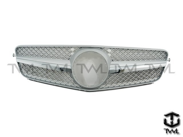 《※台灣之光※》全新BENZ賓士 W204 C200 C250 C300 C180跑車式CL樣式單線大星亮銀水箱罩