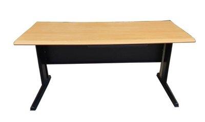 樂居二手家具(北) 便宜2手傢俱拍賣CF10603 木紋辦公桌* 辦公家具 辦公桌椅 主管桌椅 會議桌椅 泰山樹林