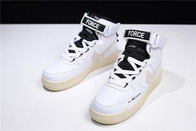 Nike Air Force 1 High AF1 白黑 高幫 魔術貼 休閒 運動 AJ7311-100