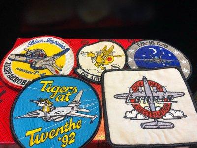 『華山堂』空軍幻象機 雷虎特技小組 刺繡臂章 燙貼布 徽章 布章 刺繡燙布 電繡 5個一標