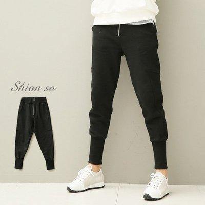 享瘦衣身中大尺碼【B2525】美式街頭風保暖長褲