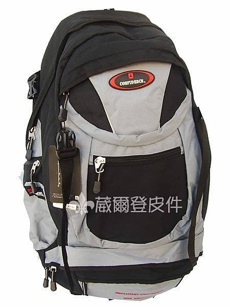 【葳爾登】高飛登confidence專業登山包/睡袋背包/旅行袋/潛水後背包/露營包/登山背包969灰M
