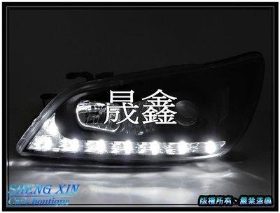 《晟鑫》全新 LEXUS IS200 IS300 01~05年 LED燈眉 雙功能 黑底魚眼大燈 對應原廠HID