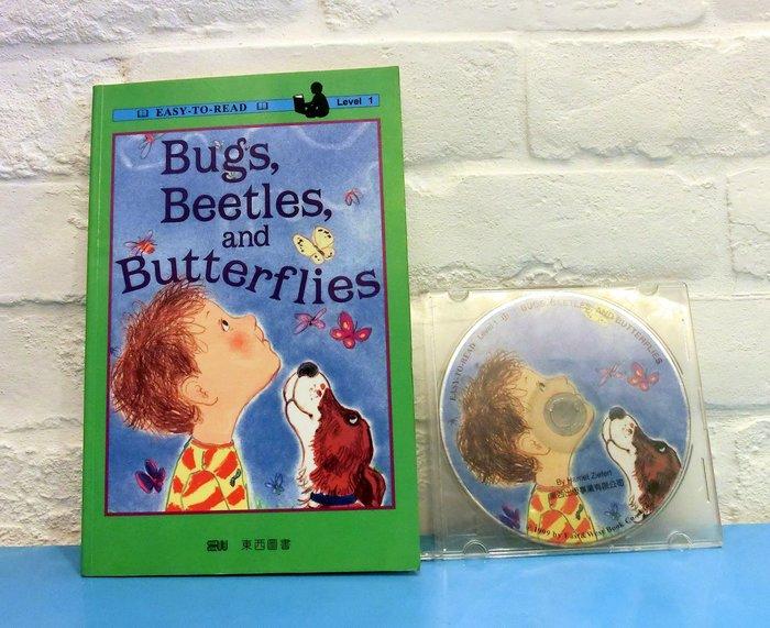 *【兒童英語繪本+CD】*~ easy to read~ Bugs, Beetles, and Butterfly