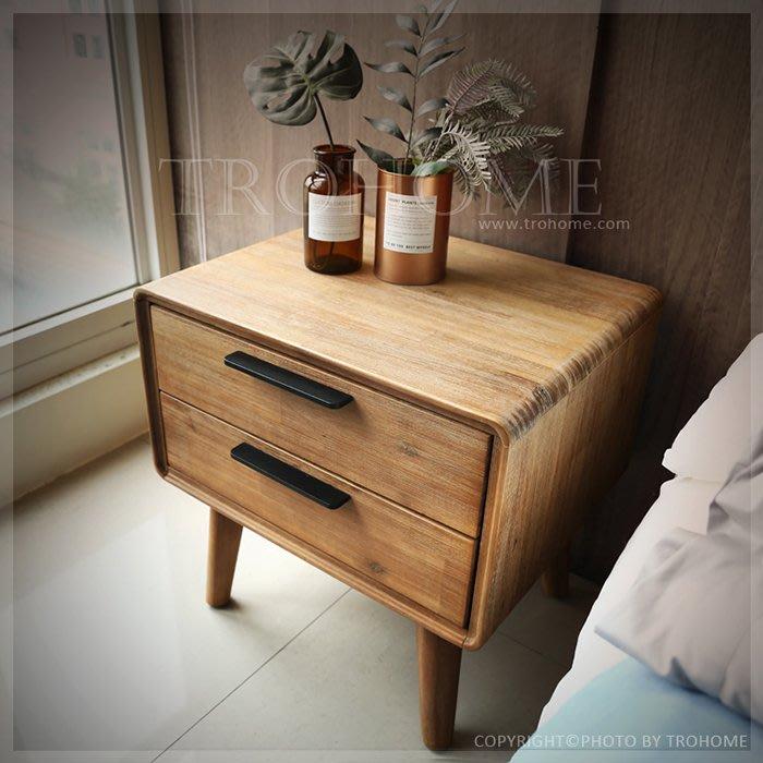 【拓家工業風家具】Holm北歐風格相思木實木床頭櫃/美式復古收納櫃床邊櫃/北歐民宿收納櫃置物櫃房間櫃茶几邊几