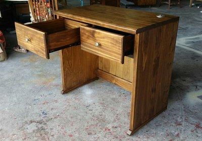 美生活館  美式鄉村風格家具訂製客製化 紐松全原木古銅色雙抽 書桌 電腦桌 工作桌 寫字兒童桌 可修改尺寸顏色再報價