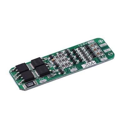 3串11.1V 12V 12.6V 18650 鋰電池充電保護板 可啟動電鑽 20A電流 W1035