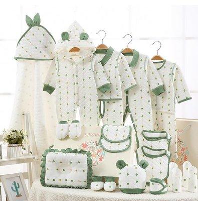 彌月禮物 彌月禮盒 嬰兒衣服純棉初生套裝新生兒禮盒秋冬男百歲0-3個月女寶寶用品包—莎芭