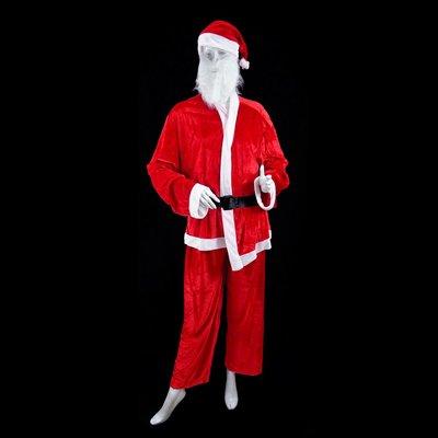 大人聖誕老人老公公服裝聖誕派對表演服 絨布大男B2聖誕衣