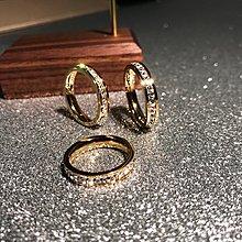 戒指 日時尚滿鑚鍍18K玫瑰金鈦鋼女食指環精品戒子飾品不褪色【大賣家】