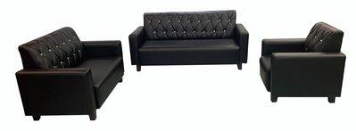 全新庫存家具買賣 二手家具買賣推薦 新竹地區免運SX807iA*全新123黑皮沙發*茶几 客廳桌椅 泡茶桌椅 電視櫃