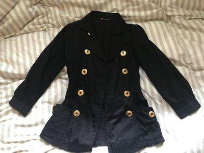 日系品牌 SLY  黑色 雙排釦 立領外套 (snidel/ingni/dazzlin)