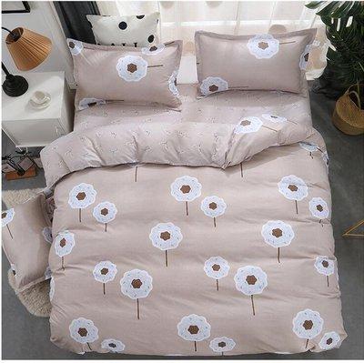 簡約四件套純棉1.8m床上用品宿舍全棉被套床單人三件套1.5米雙人