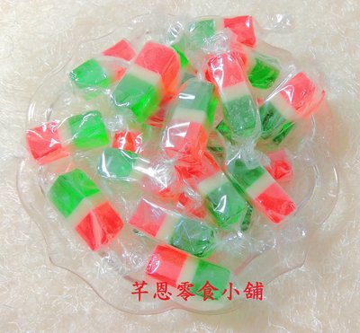 【芊恩零食小舖】三色軟糖 350g 約33顆 50元 (全素) 古早味 萬聖節 聖誕節 年貨 喜糖 派對活動 糖果 軟糖