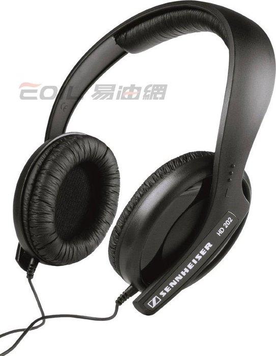 【易油網】Sennheiser HD 202 II 專業耳機 (黑) 送收納袋繞線器 現貨 #54699【缺貨】