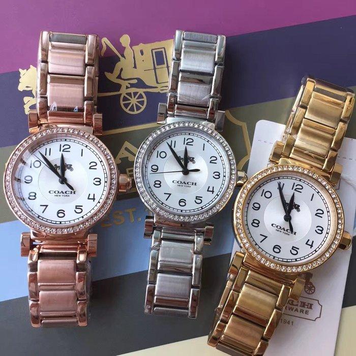 NaNa代購 COACH 三色可選 精美漂亮 石英手錶 黑色指針 簡約大方 氣質女款 附代購憑證