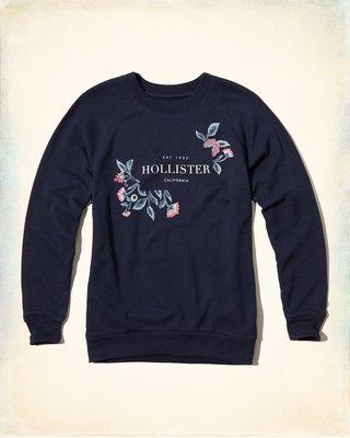 【天普小棧】HOLLISTER Logo Graphic Boyfriend Sweatshirt厚男友長T運動衫XS