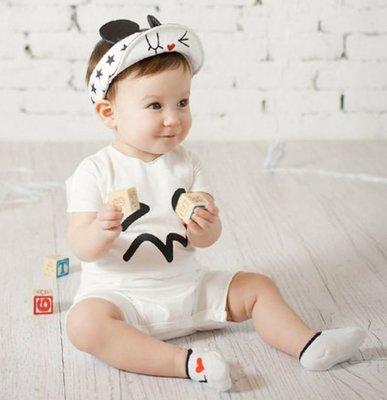 HM嬰幼館【Q900】 2015韓國新款 超可愛不對稱love短襪 AB腳船襪硅膠防滑地板襪兒童寶寶精梳棉襪 $60/ 雙 高雄市