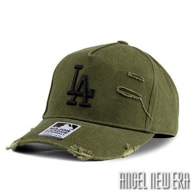 【PD帽饰】【MLB Old Fashioned Cap】LA 道奇 墨綠色 破壞布 卡車帽 老帽【ANGEL NEW ERA 】