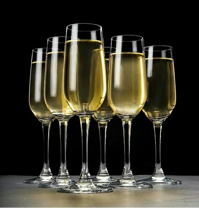 無鉛水晶玻璃手工吹製香檳杯高腳杯【 蘇菲亞精品傢飾】